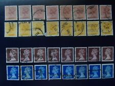 Great Britain 4 x 8 Ha'penny defs. 1976+,cv £28.80, fine used.