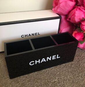 BNIB CHANEL Acrylic Makeup storage Brush Holder Vanity Organiser Box