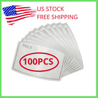 ❤️ 100PCS Of PM2.5 Filter Carbon Breathing Insert Protective Pad Gasket