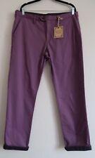 Men's Lilac Purple Chinos Waist 36 Reg TED BAKER Slim Trousers Turn Roll Up B46