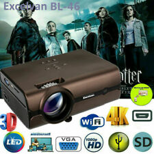 LED Smart Home Theater Projector Android 6.0 4K Wifi BT 1080p FHD 3D Video Movie