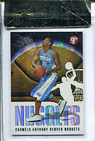 Carmelo Anthony Unsigned 2003-04 Topps Platinum Rookie Card Beckett Raw Grade 9