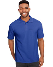 Hanes Mens Heavyweight Chunky Cotton Beefy Polo Sports Shirt inc Hanes Text Logo