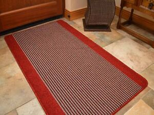 Small Large Red Silver Washable Non-Slip Long Hall Kitchen Heavy Duty Rugs Mats