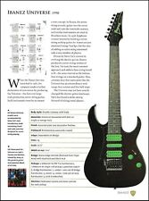Steve Vai Signature Ibanez Universe guitar 9 x 7 article with specs