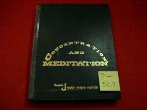 VINTAGE HTF 1971 CONCENTRATION & MEDITATION BY SWAMI JYOTIR MAYA NANDA 1st ED.