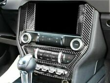 Fit For Ford Mustang 2015-2017 Carbon Fiber Radio Surround Stick Trim Cover LHD