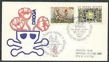 1977 ITALIA FDC VENETIA 425 LA DROGA UCCIDE TIMBRO ARRIVO - EDG31