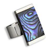925er Silber Designer Ring Abalone Perlmutt Top Handarbeit SR060
