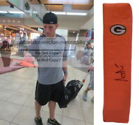 A.J. AJ Hawk Green Bay Packers Signed Autographed TD Football Pylon Proof COA