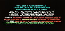 4.8L Performance Outline Seriers Fits Chevy 1500 Vinyl Hood Sticker Decals