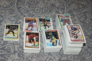 1991 1992 O Pee Chee Topps Hockey Complete Your Set U Pick NHL Cards 91-92