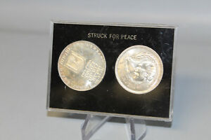 1973 Israel 10 Lirot 25th Anniversary .900 Silver .720 Egypt Sadat Coin Set