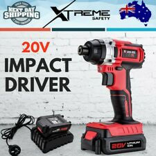 New 20V Lithium Ion Battery Cordless Impact Driver Hex Tool Electric Screwdriver