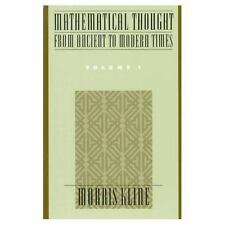 001: Mathematical Thought from Ancient to Modern Times, Vol. 1