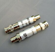 (2 PCS) BNC 6db 300KHz-3GHz DC Block Attenuator Pad 50 Ohm 2 Watt.- USA Seller