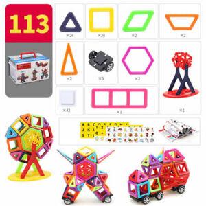 113 pcs Kids Mini Magnetic Blocks Building Toys For Boys Girls Magnet Tiles Kits