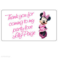 20x Large Minnie Mouse Personalised Birthday Party Sweet Bag Box Stickers  211