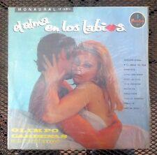 """OLIMPO CARDENAS """"EL ALMA EN LOS LABIOS"""" MONO LP 12-813 SEXY LATIN CHEESECAKE LP"""