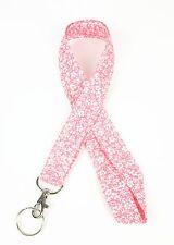 Sakura Print Fabric Neck LANYARD Key chain for ID Badge Holder