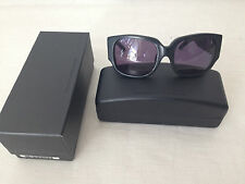 ALEXANDER WANG,LINDA FARROW COLLABORATIONS BLACK LEATHER SUNGLASSES MADE N JAPAN
