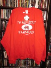 Case IH Tractors All About Farming Red Sweatshirt Mens 2XL  NEW NWT  (bin60)