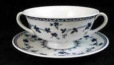 Royal Doulton YORKTOWNE Cream Soup & Saucer Ribbed GREAT CONDITION