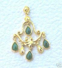24K Pure Gold & Imperial Jade Chandelier Pendant