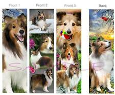 3 Lot-SHETLAND SHEEPDOG Sheltie BOOKMARK SABLE Dog Book Card Ornament Figurine