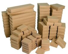 Cotton Filled Jewelry Gift Boxes Lot of 100 mixed sizes see details KRAFT