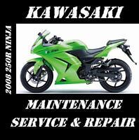Kawasaki 250R Ninja EX 250 Service Repair Maintenance Rebuild Manual 2008