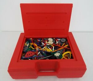 Lot of K'NEX - Building parts & Pieces with large red storage case