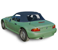 BMW Z3 1996-2002 Convertible Soft Top Replacement & Plastic Window Blue Twill