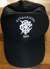 BARBARIANS RUGBY(1890)-NEW-BLACK Baseball Cap-Adults One Size-Embroidered Logo