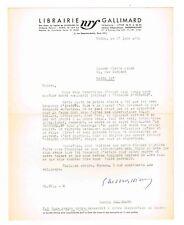 L'EDITEUR GASTON GALLIMARD REFUSE UN MANUSCRIT EN 1951