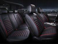 Per Nissan Fiat Dacia Coprisedili Nero filo Rosso Lusso Similpelle Set Completo
