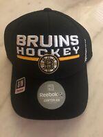 Boston Bruins Hockey Hat Cap New Nhl Reebok Black Center Ice Flex Size S/M