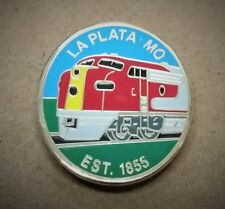 LaPlata, MO Est 1855 Lapel Pin. One of a kind Features a Santa Fe Train NIP