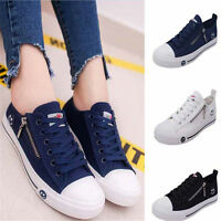 Womens Canvas Shoes Sports Running Sneakers Flats walking Breathable Casual