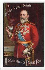 HORNIMEN'S PURE TEA: Royalty themed poster type advertising postcard (C21821)