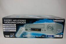 MEDION md42277 6-TESTA VIDEO RECORDER VIDEOREGISTRATORE VHS * New/Nuovo *