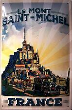 Le Mont Saint-Michel france chapa escudo Escudo marcada 3d Tin sign 20 x 30 cm