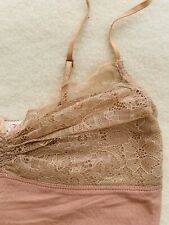 ALANNAH HILL WOMENS SUNGLET TOP LACE NUDE Adj. STRETCHY STRAPS SZ 6