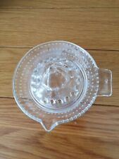 VINTAGE GLASS LEMON CITRUS FRUIT SQUEEZER