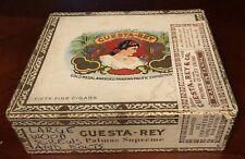 RARE VINTAGE CUESTA-REY CARAVELLE PREMIUM QUALITY CIGARS BOX 50 TAMPA 1930-1960s