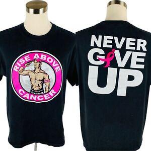 "WWE John Cena ""RISE ABOVE CANCER"" Susan G. Komen T-Shirt Men's XL X-Large"