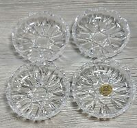 Italian Crystal Dish Genuine 24% Lead Crystal by RCR Royal Crystal Rock Set of 4