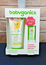 Baby Sunscreen Babyganics Mineral Based  50 SPF 6 oz Tube and bonus Stick