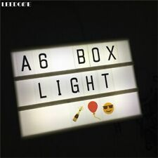 Cinematic Lightbox USB Powered Light Box AA Battery DIY With Black Letters Cards