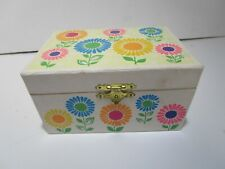 Vintage 1970's Girls Jewelry box with working ballerina plays Fascination nice